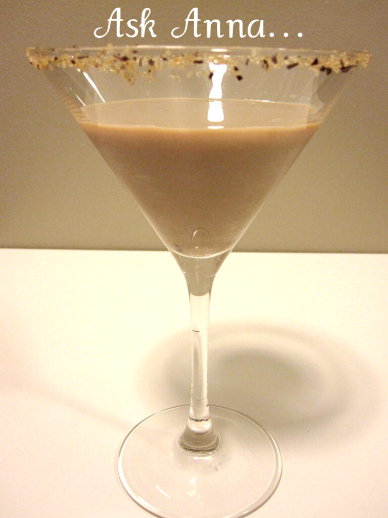 Dark Chocolate Martini | Ask Anna