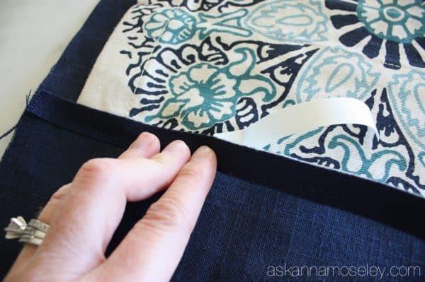 A no-sew way to make short drapes floor length - Ask Anna