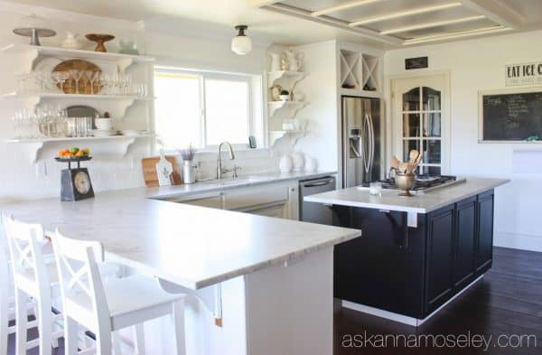 Subway tile wall in a kitchen - Ask Anna