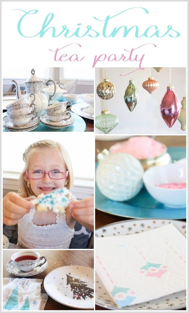 Christmas tea party with vintage flair | Ask Anna