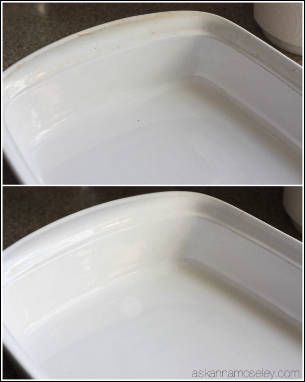 This is a really simple tip for how to clean baked-on grease off pots, pans & baking dishes. You will be AMAZED at how easy it is to get tough grease off with just a sponge and a little dish soap   Ask Anna