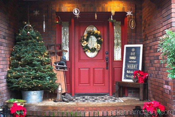 Christmas front porch   Ask Anna