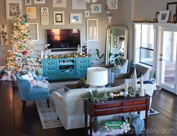 Bright and colorful Christmas home tour   Ask Anna