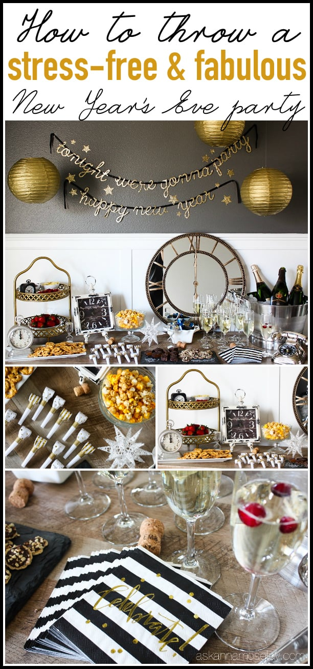 Tips for how to throw a stress-free, fabulous New Year's Eve party   Ask Anna