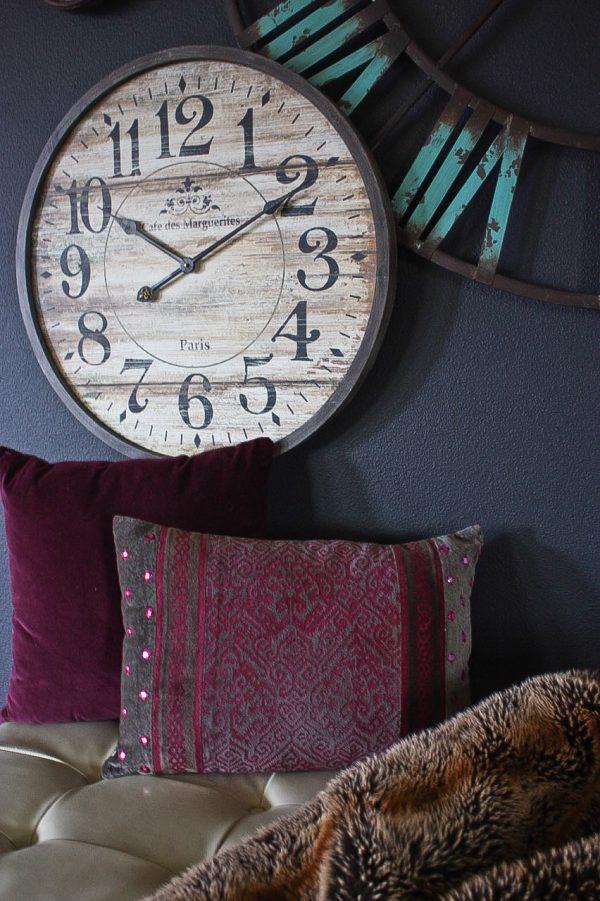Create a statement wall using clocks | Ask Anna