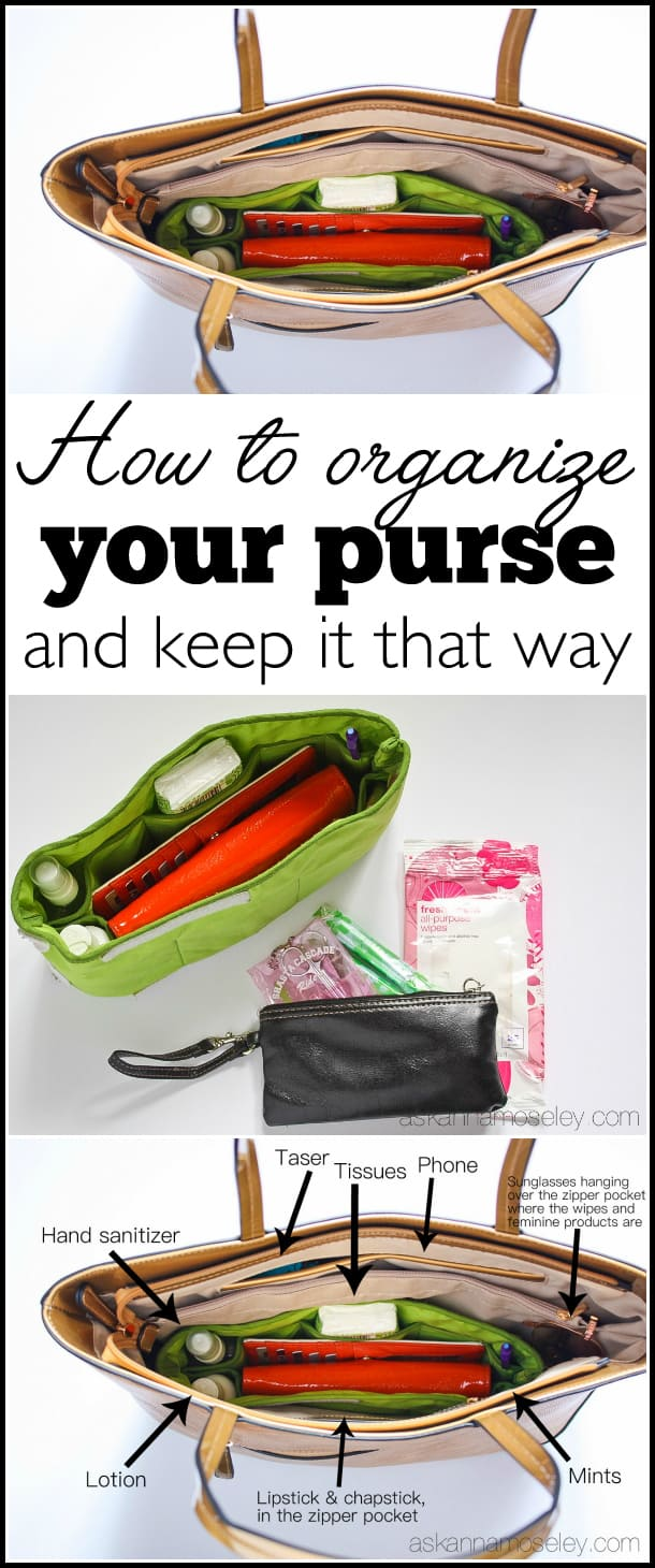 How to organize your purse, and keep it that way, in less than 30 minutes | Ask Anna
