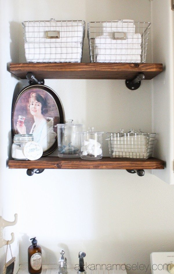 Industrial shelves tutorial | Ask Anna