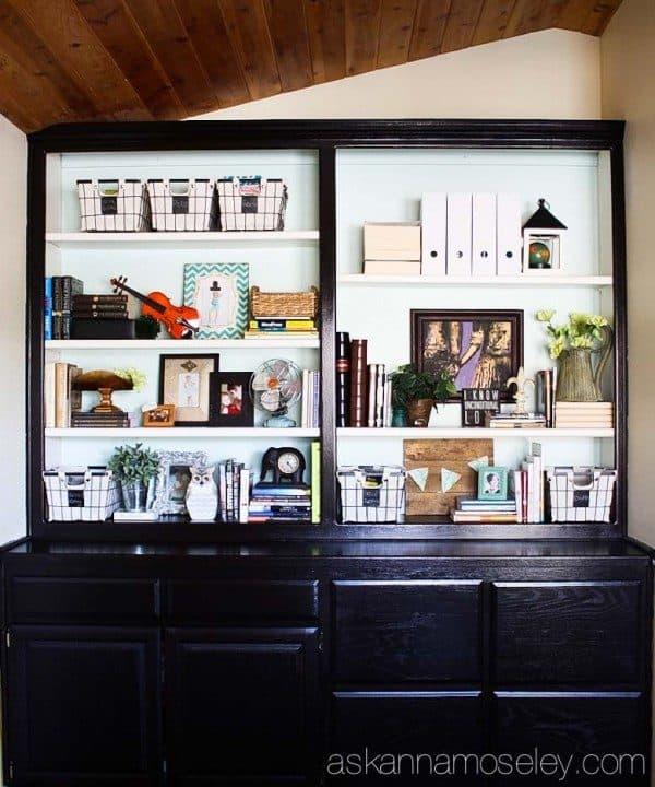 Bookshelf makeover and organization   Ask Anna