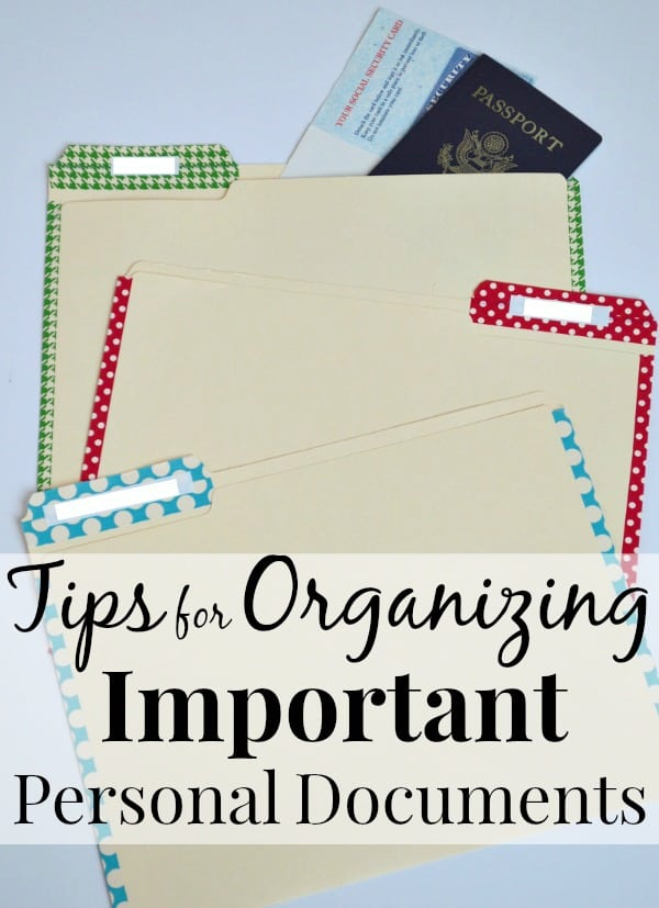 6 easy tips to help you organize important personal documents for everyone in the family, in less than 30 minutes | Ask Anna
