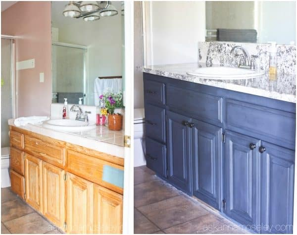 Bathroom vanity before and after pictures   Ask Anna