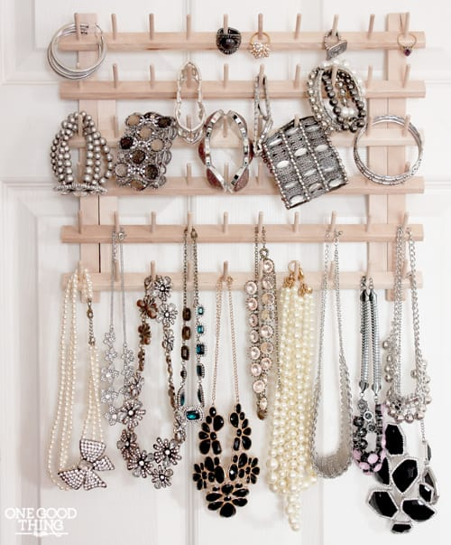 Lots of great tips for how to organize your jewelry in 30 minutes or less | Ask Anna
