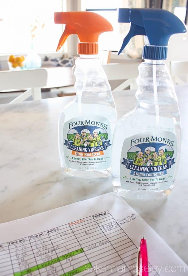 Cleaning tips for new puppy owners, using Four Monks vinegar | Ask Anna