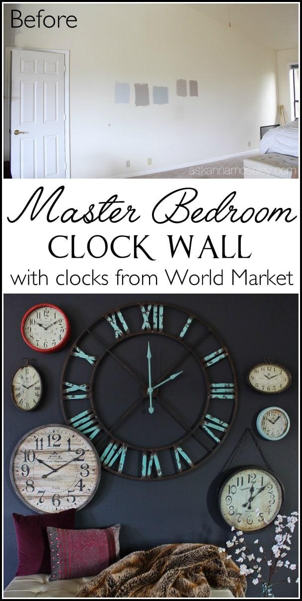 Create a fun statement wall using clocks   Ask Anna