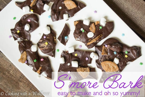 S'mores Bark, easy to make and oh so yummy for kids and grown ups   Cooking with a Wallflower