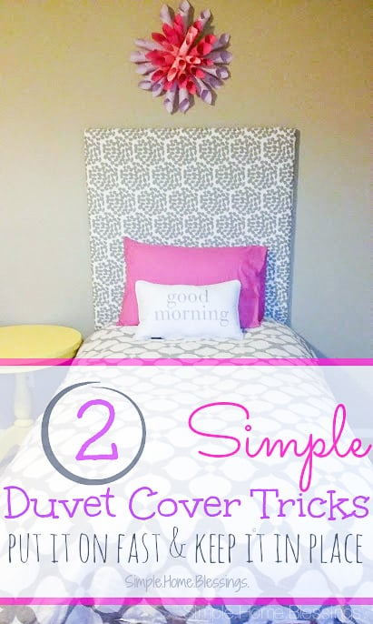2 Duvet cover tips that will make your life SO much easier, including a video tutorial!   Simple.Home.Blessings for Ask Anna