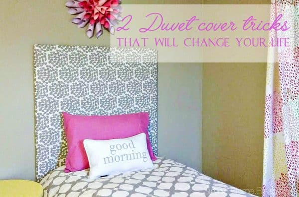 2 Duvet cover tips that will make your life SO much easier, including a video tutorial! | Simple.Home.Blessings for Ask Anna