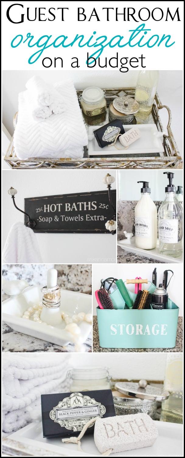 Guest bathroom organization on a budget | Ask Anna