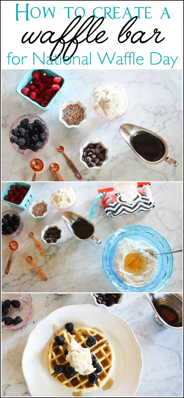 How to create a waffle bar for National Waffle Day, March 25th | Ask Anna
