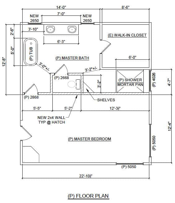 Master bathroom renovation layout - after   Ask Anna