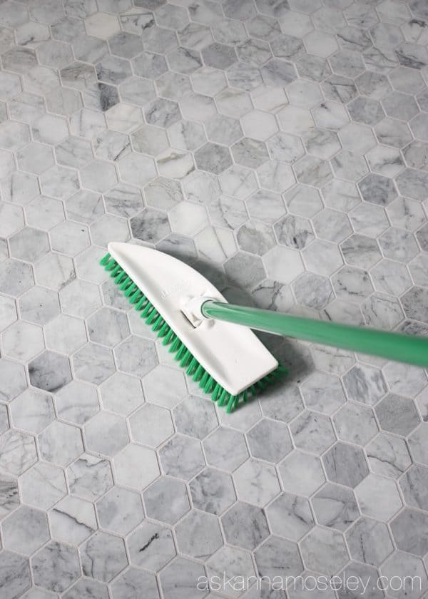 Lots of bathroom cleaning tips, especially for bathrooms with lots of tile | Ask Anna