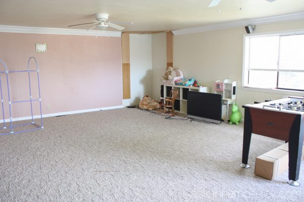 Downstairs flooring reveal - before picture | Ask Anna