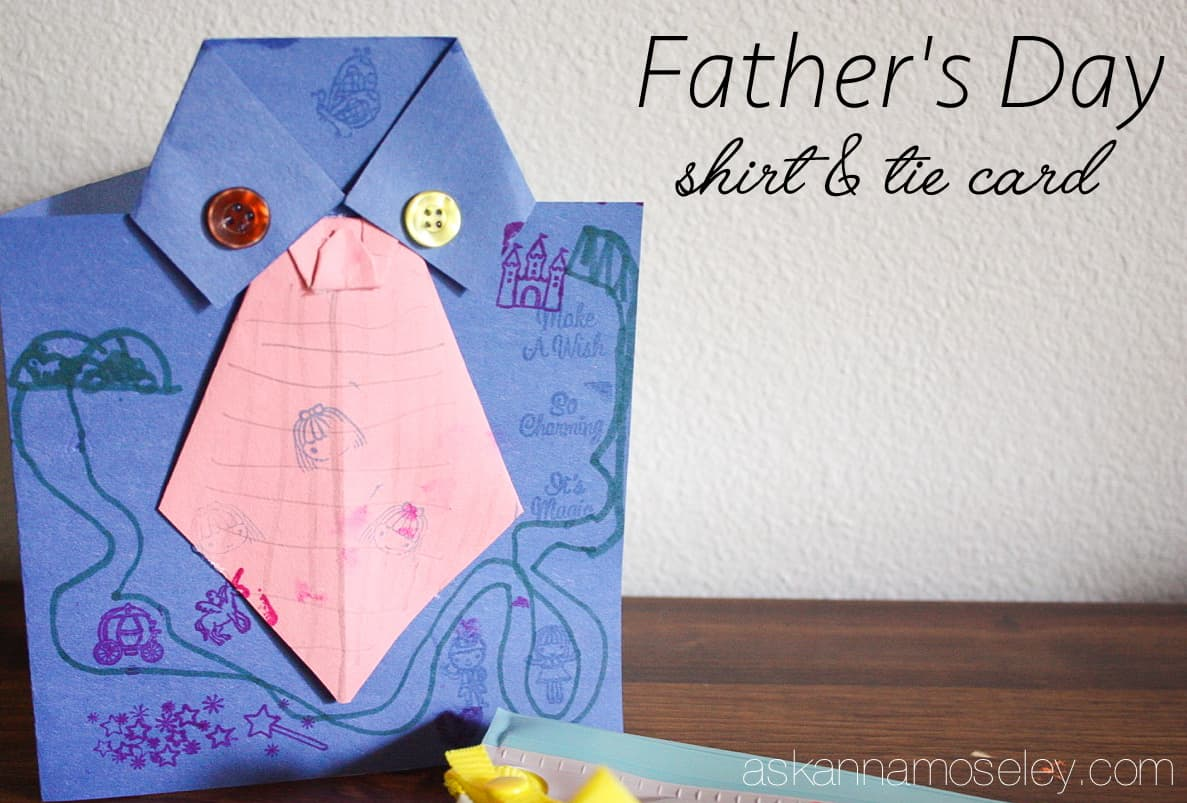 Father's Day card craft idea   Ask Anna