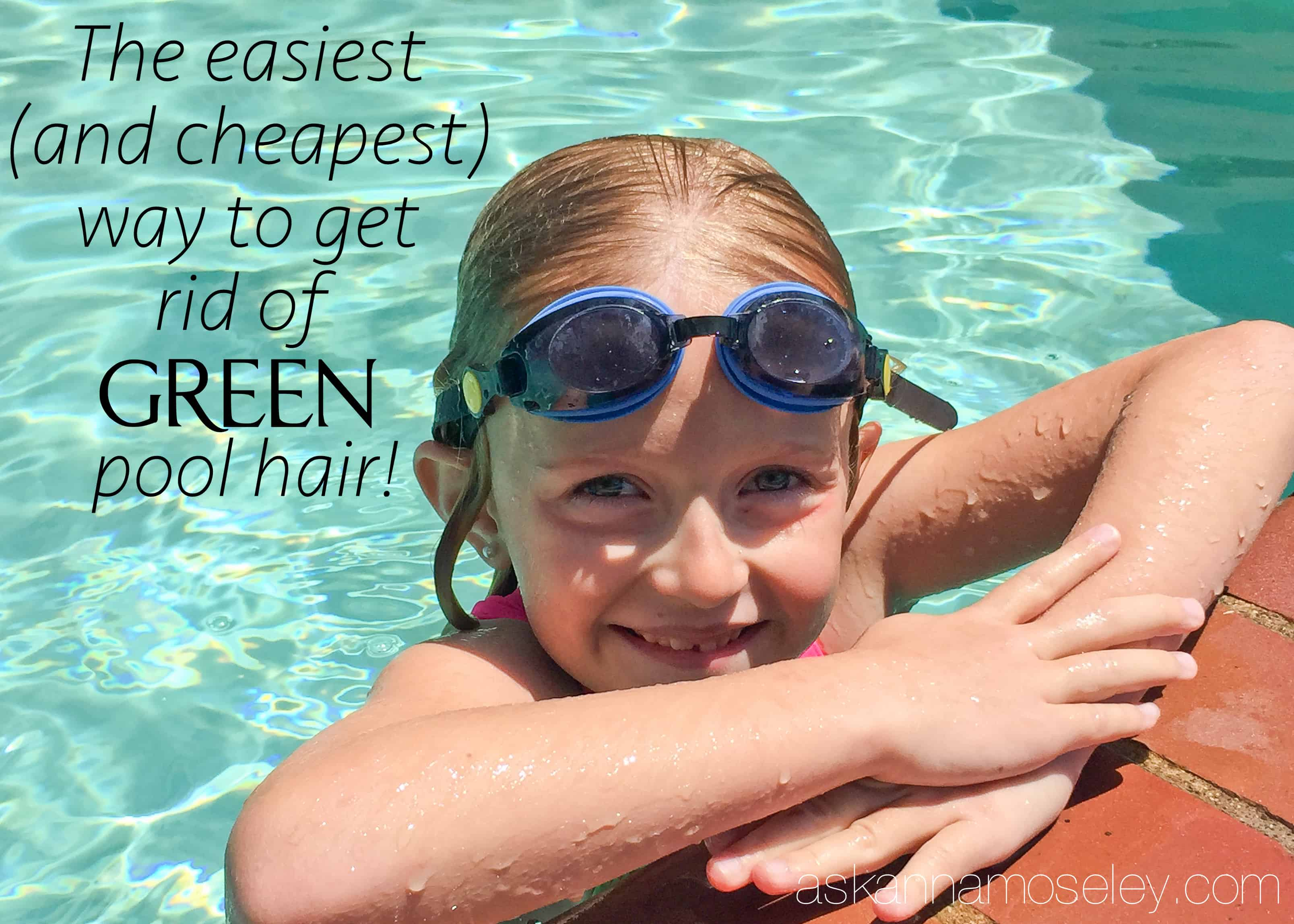 The easiest, and cheapest, way to get rid of green pool hair   Ask Anna