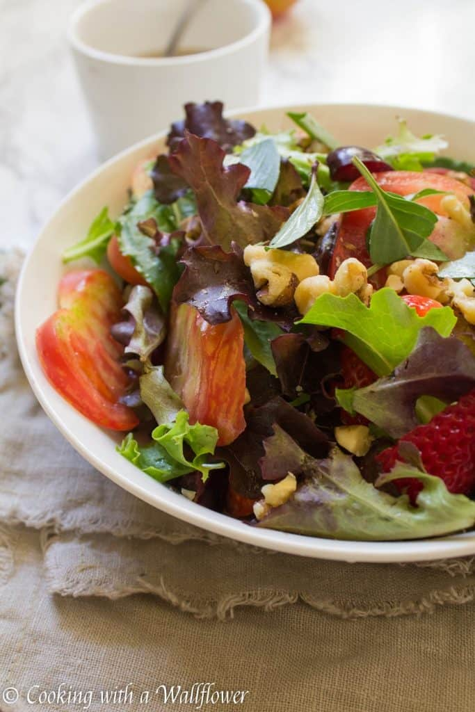 Strawberry Heirloom Tomato Salad | Cooking with a Wallflower