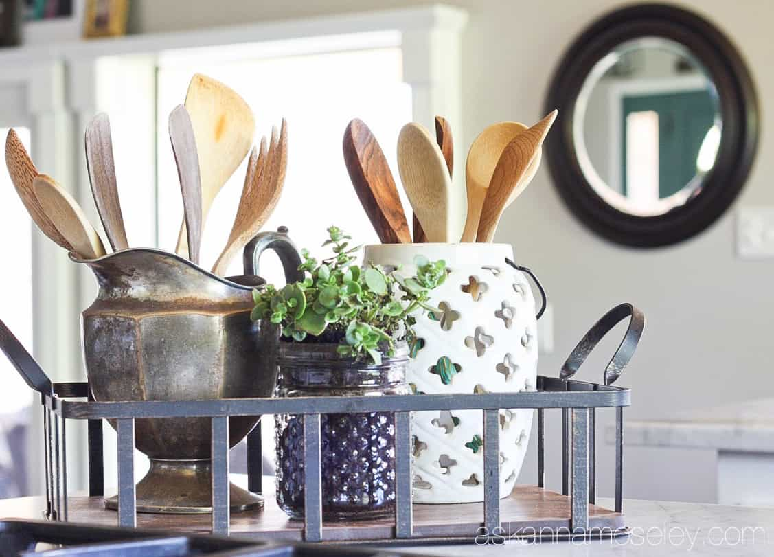 Farmhouse chic makeover with affordable products from the Better Homes and Gardens line at Walmart | Ask Anna