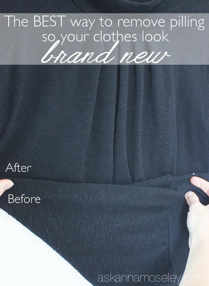 The BEST, and easiest, way to save your clothes and remove pilling! You won't believe how easy it is to make your clothes look new again   Ask Anna