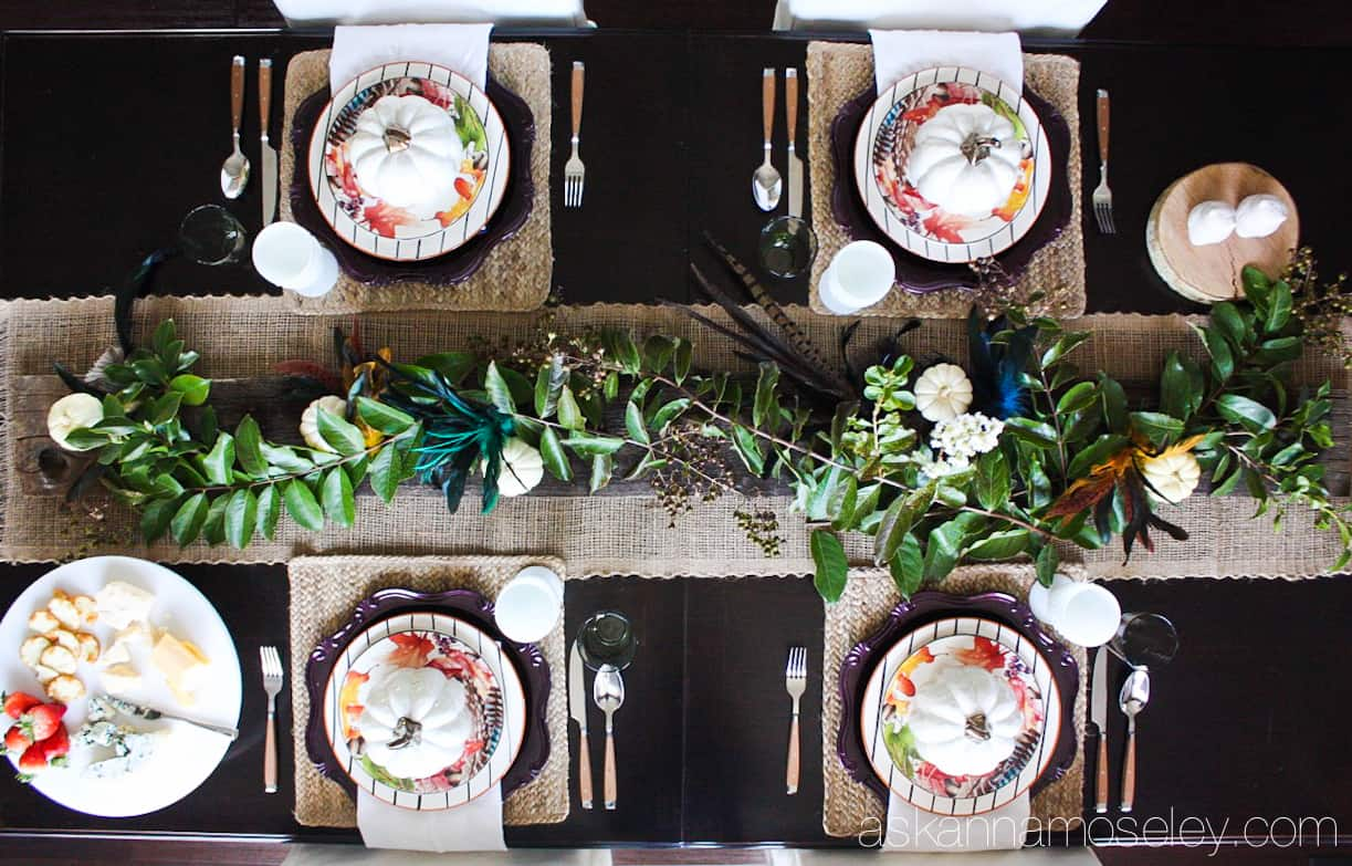 Simple and elegant Fall tablescape (you won't believe how affordable it was too!) | Ask Anna