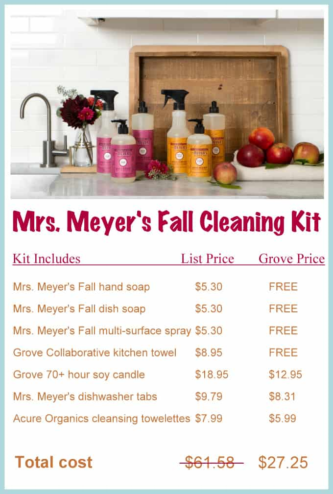 Get Mrs. Meyer's NEW Fall cleaning kit for FREE | Ask Anna