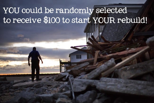 You could have the chance to be selected, and receive $100, to start your rebuild from Hurricane Matthew | Ask Anna