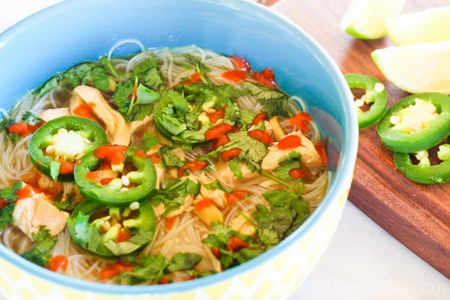 This is a quick and easy Pho recipe that can be on the table in less than 20 minutes and it's oh-so good | Ask Anna