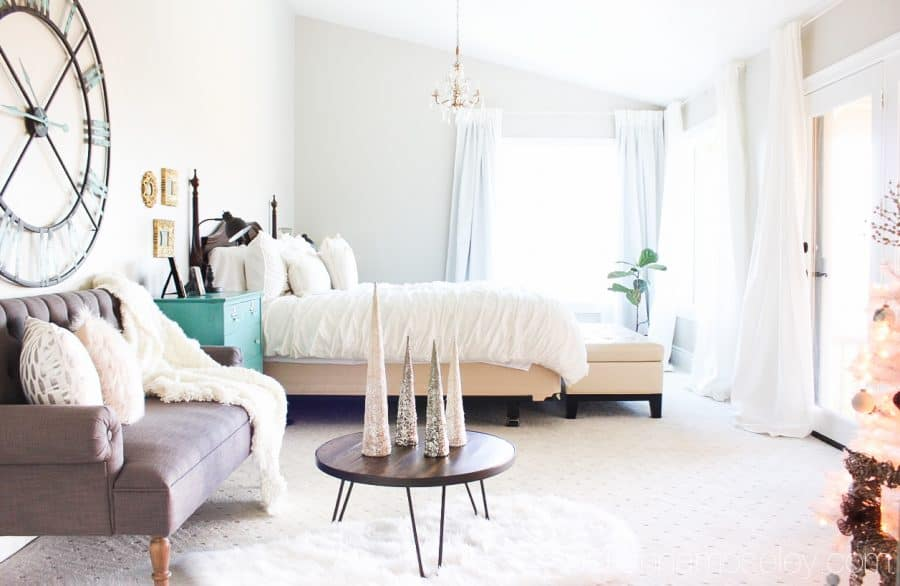 Our master bedroom reveal is finally here! From 80's outdated to traditional modern style, with tons of natural light & views of the river, it is stunning | Ask Anna