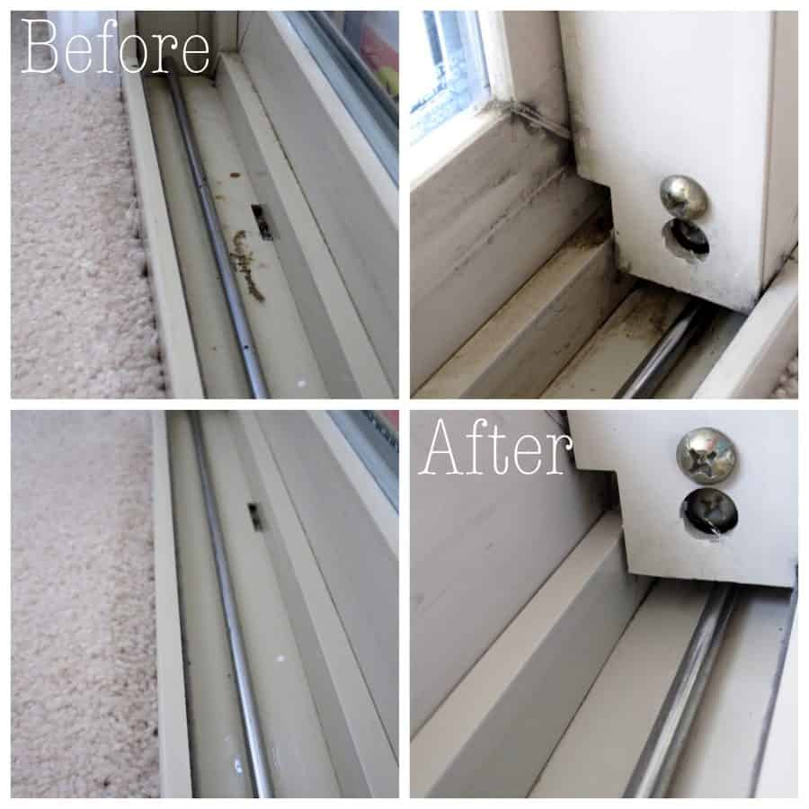 A tutorial for how to clean you windows and your window tracks without chemicals | Ask Anna