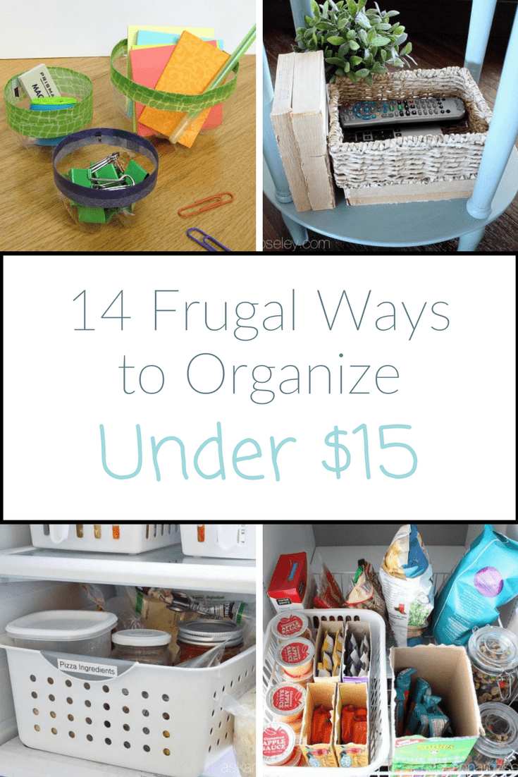 Need to organize your home on a budget but have no idea where to start? Don't panic! Here are 14 frugal ways to organize under $15   Ask Anna