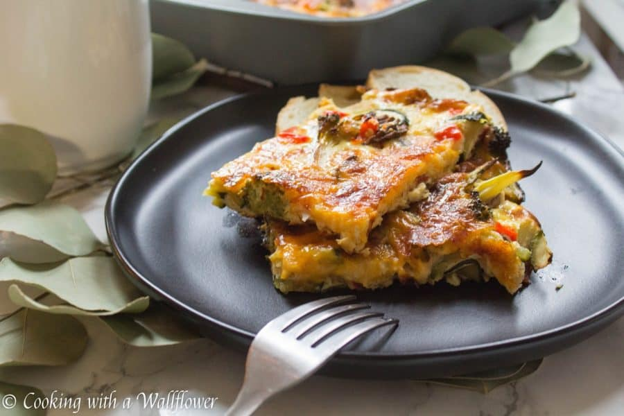 Roasted Vegetable, Bacon, and Egg Breakfast Casserole