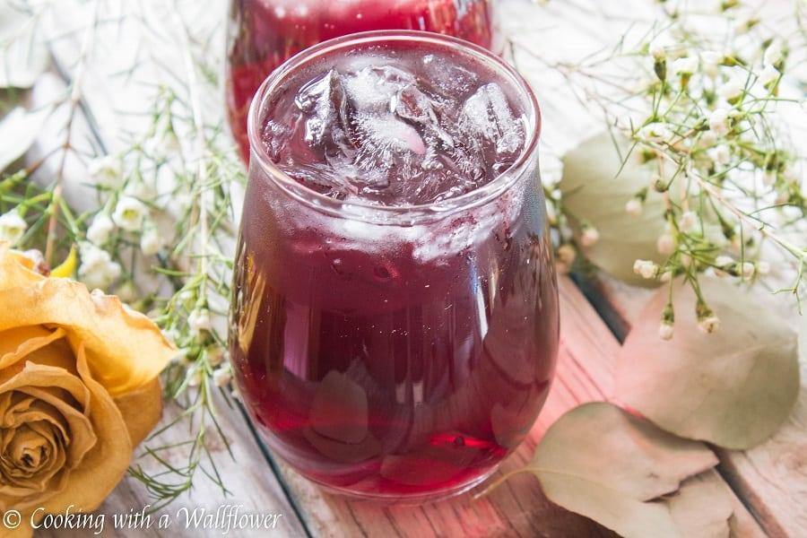 Pomegranate Hibiscus Vodka Iced Tea