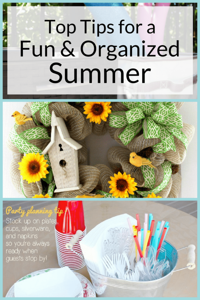 In my opinion, the best season of the year has arrived - summer! I'm sharing some of my top tips to get ready for a fun and organized summer.