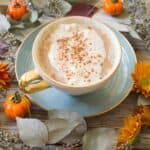 Pumpkin chai latte mixed with puree and pumpkin spice. This pumpkin chai latte is simple, delicious and so comforting for fall. | Ask Anna