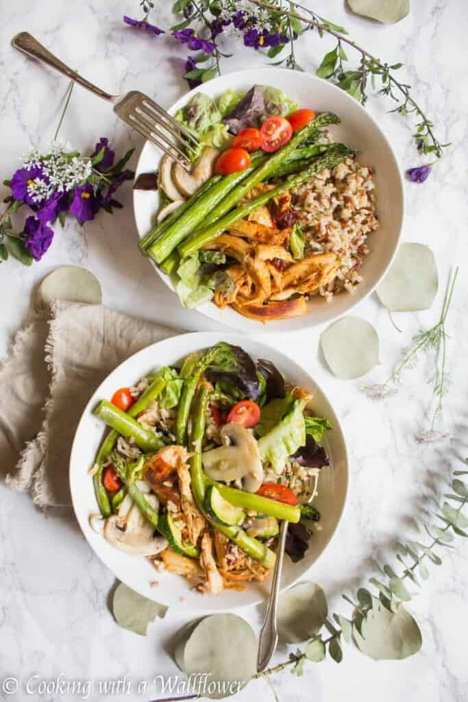 Honey Chipotle Chicken Grain Bowls | Ask Anna