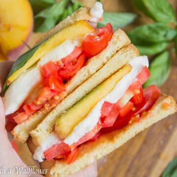 Peach Caprese Sandwich | Ask Anna