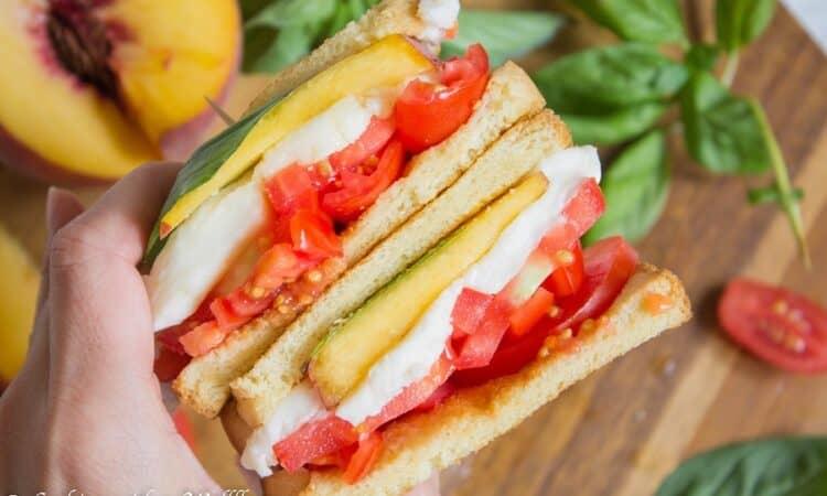 Peach Caprese Sandwich   Ask Anna