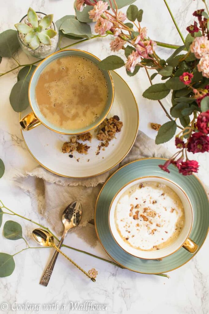 Maple Pumpkin Almond Oatmeal Latte | Ask Anna