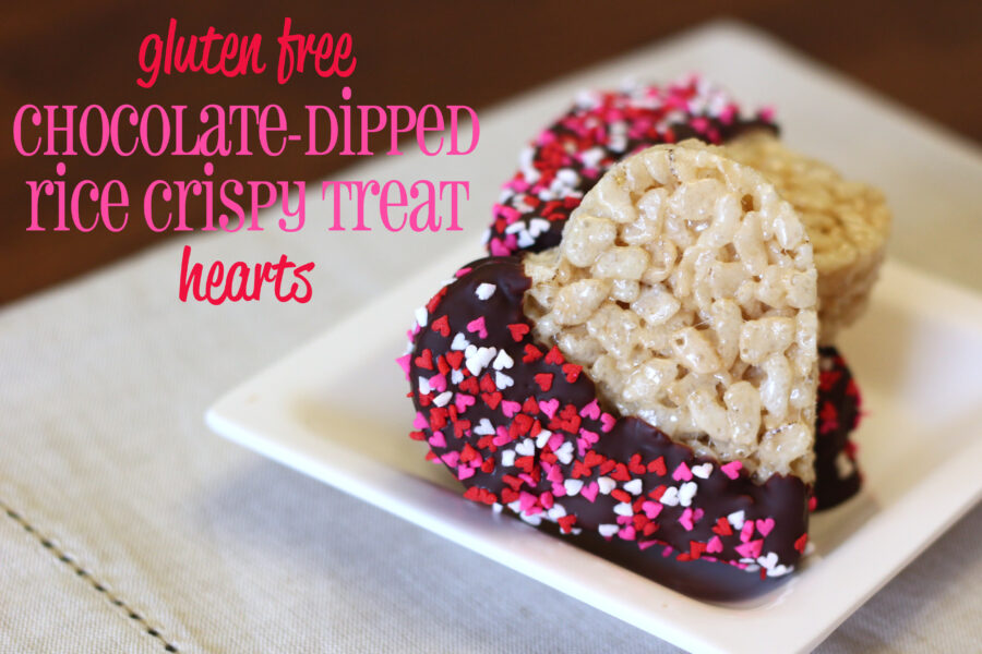 Gluten free chocolate dipped rice crispy treats | Ask Anna