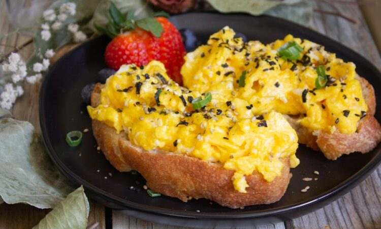 Furikake Soft Scrambled Egg Toast