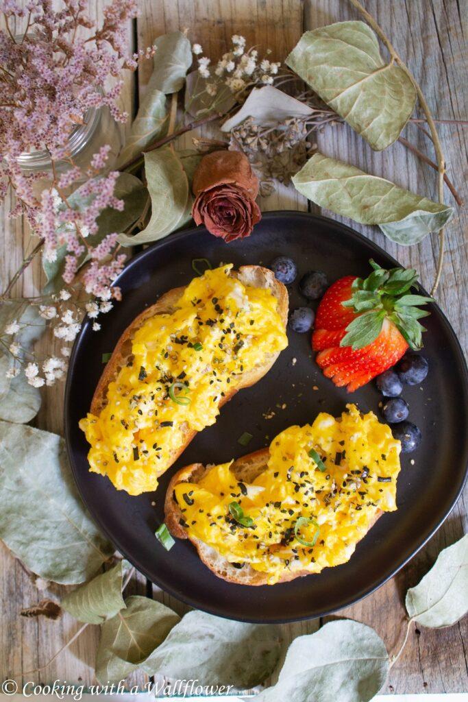 Furikake Soft Scrambled Egg Toast