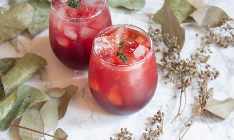 Sparkling Pomegranate Apple Lemonade