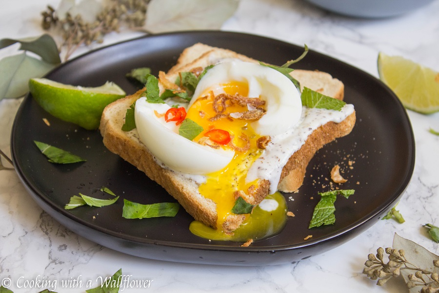 Garlicky Egg Toast with Herbs | Ask Anna
